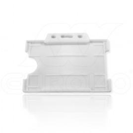 Badge Holder Open White 9x6